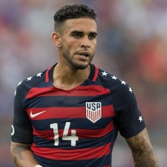 East Hartford, CT - Saturday July 01, 2017: Dom Dwyer during an international friendly game between the men's national teams of the United States (USA) and Ghana (GHA) at Pratt & Whitney Stadium.